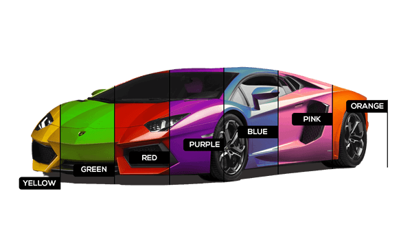 Car wrapping in more than 300 colours